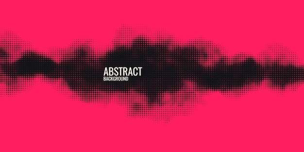 Monochrome printing raster abstract vector halftone background