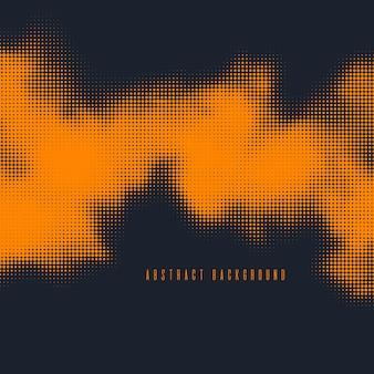 モノクロラスター抽象的なハーフトーンの背景