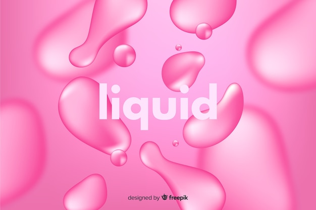 Monochrome realistic liquid effect background