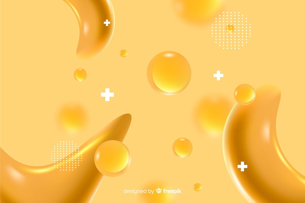 Monochrome realistic liquid effect background
