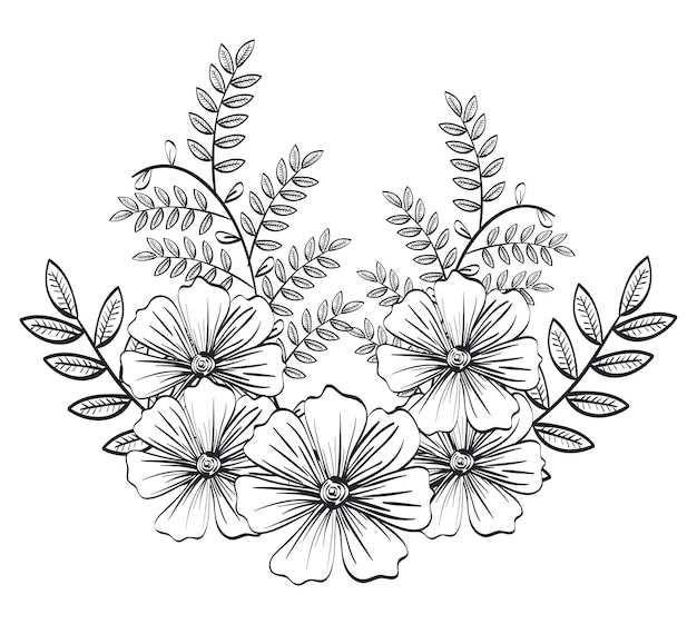 Monochrome and rustic decoration floral
