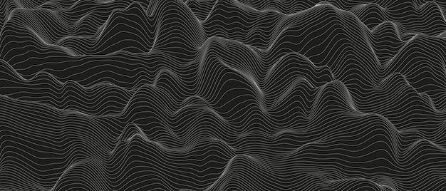 La linea sonora monocromatica ondeggia il fondo astratto