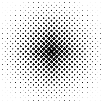 Monochrome square pattern - geometrical abstract background graphic from angular rounded squares