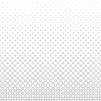 Monochrome square pattern - geometrical halftone abstract vector background design from angular squares
