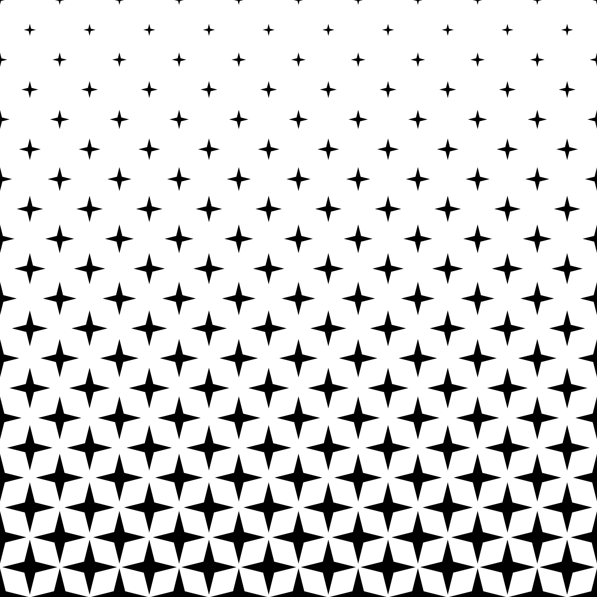 Monochrome star pattern - abstract vector background from geometric shapes
