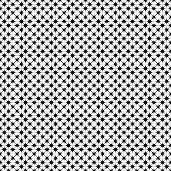 Monochrome star pattern - vector background design