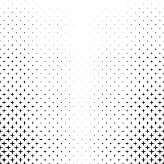 Monochrome star pattern - vector background graphic from geometric shapes