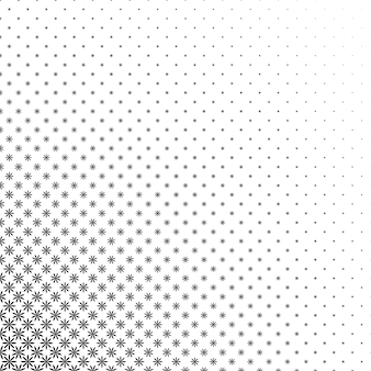 Monochrome stylized flower pattern - abstract floral vector background