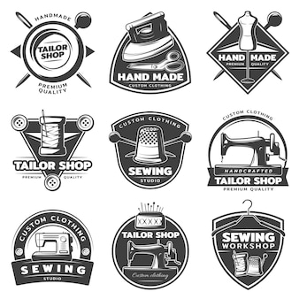 Monochrome tailor badge collection