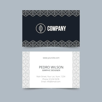 Monochrome template for business cards