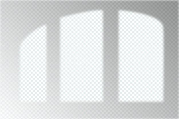 モノクロの透明な影のオーバーレイ効果の概念