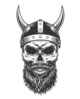 Монохромный старинный череп