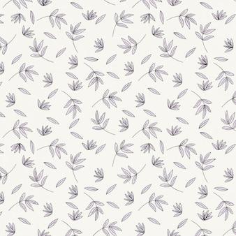Monocolor floral pattern