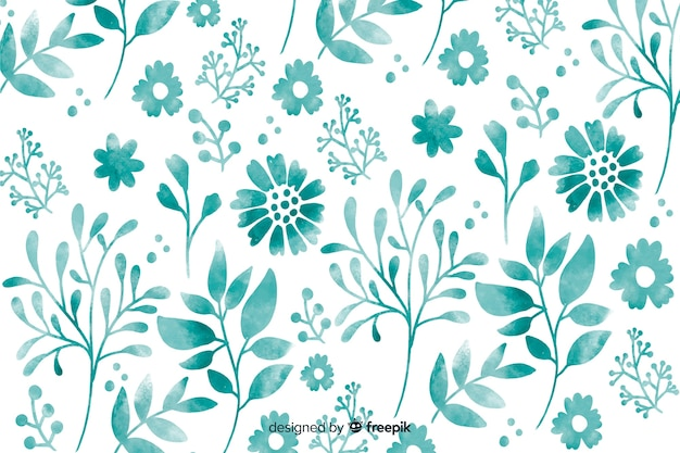 Monocromatic watercolor floral background