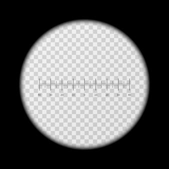 Monoculars, spyglass view vector template