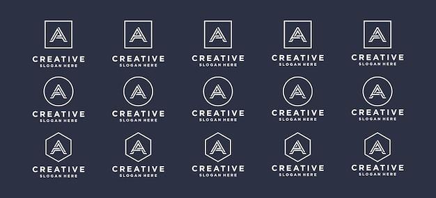 モノグラム、抽象、文字、イニシャルaロゴデザイン。