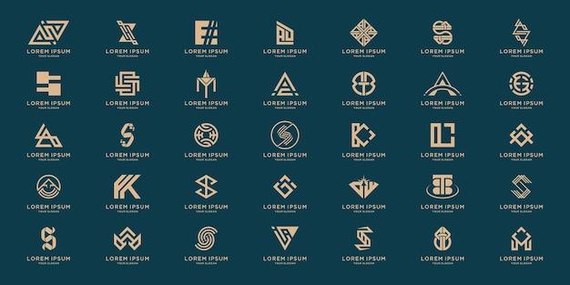 모노그램 알파벳 로고 디자인 서식 파일