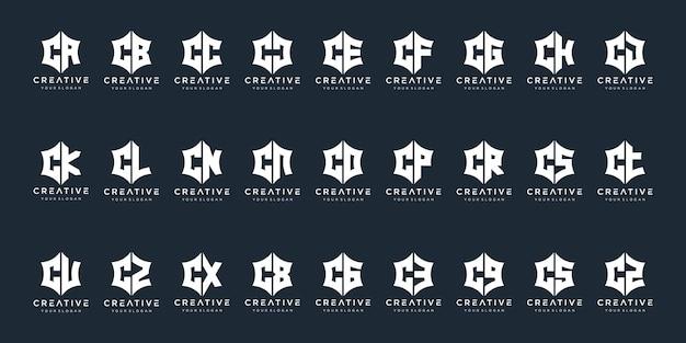 럭셔리 우아하고 단순한 비즈니스를위한 모노그램 c 로고 디자인 영감 아이콘