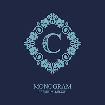 Вензель каллиграфический шаблон логотипа