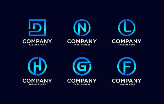Monogram creative logo design template.