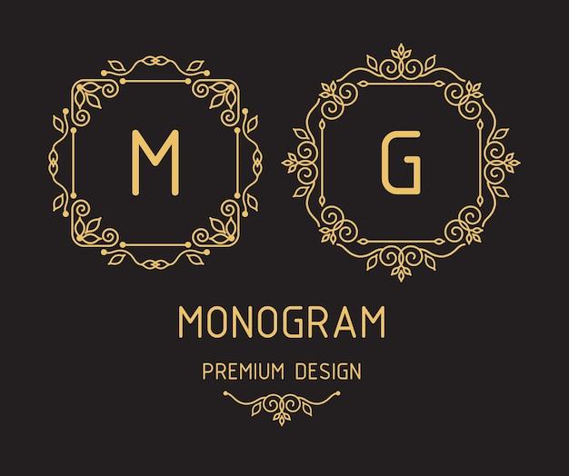 モノグラムデザインテンプレート