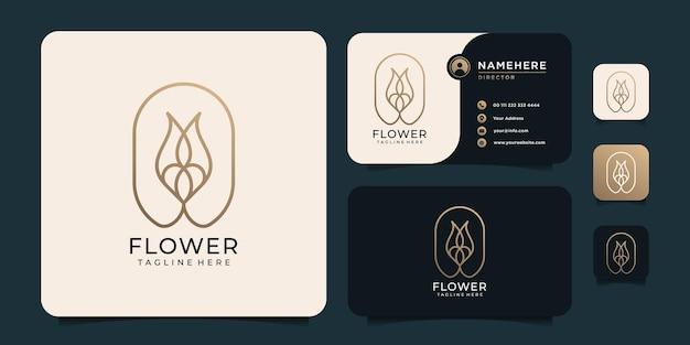 モノグラムフラワーリーフスパ自然植物サロンファッションロゴ