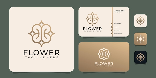 Вензель цветок логотип