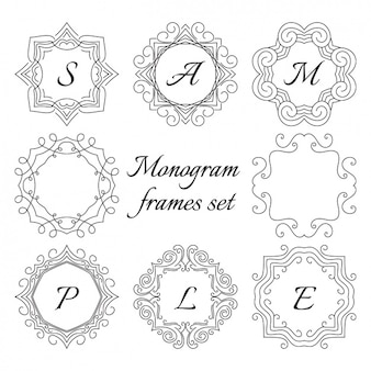 Monogram frame set