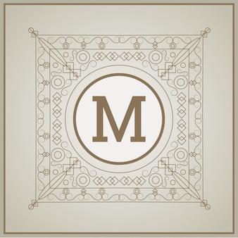 Monogram icon design