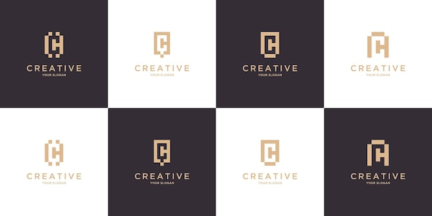 モノグラム頭文字cロゴデザイン