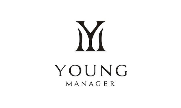Monogram / initials ym logo design inspiration