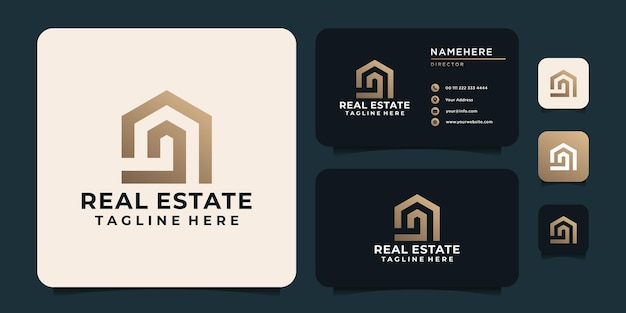 Monogram inspirational real estate building construction for business residential