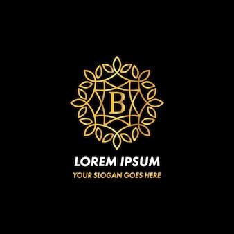 Monogram letter b logo concept