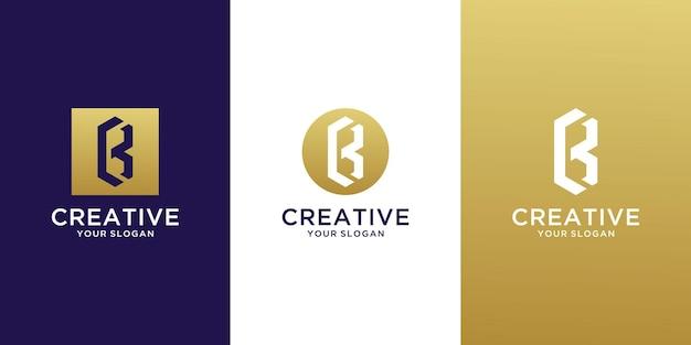 Monogram letter c b logo