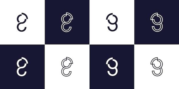 Monogram letter g logo template premium vector