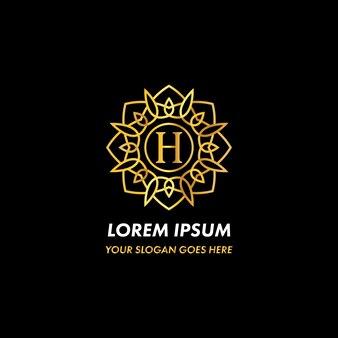 Monogram letter h logo concept