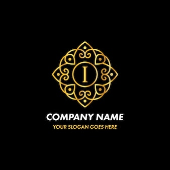 Monogram letter i logo concept