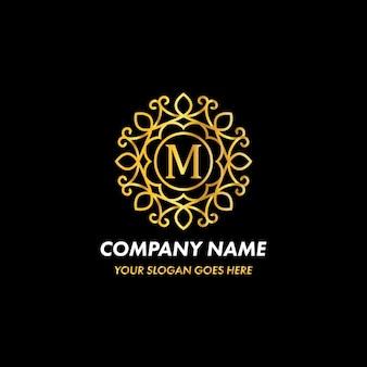 Monogram letter m logo concept