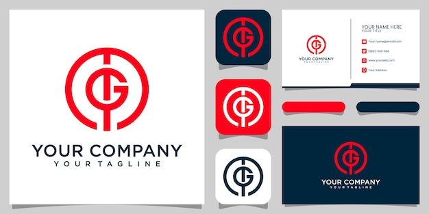 Вензель буква мг логотип для роскошного дизайна логотипа компании premium vektor