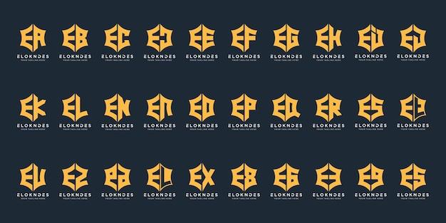 고급스럽고 우아한 비즈니스를위한 모노그램 로고 디자인 영감 아이콘