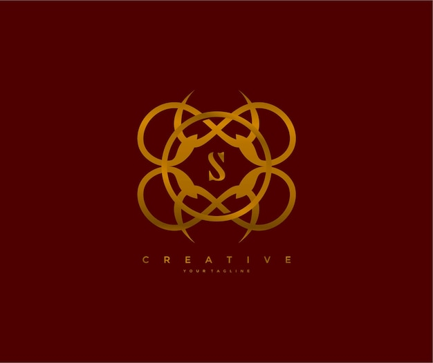 Вензель логотип буква s уникальный элегантный символ