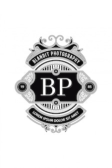 Monogram logo photography b-p