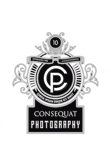 Monogram logo photography c-p