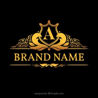 Monogram Logo With Golden Letter A