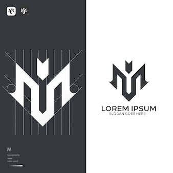 Monogram m logo template