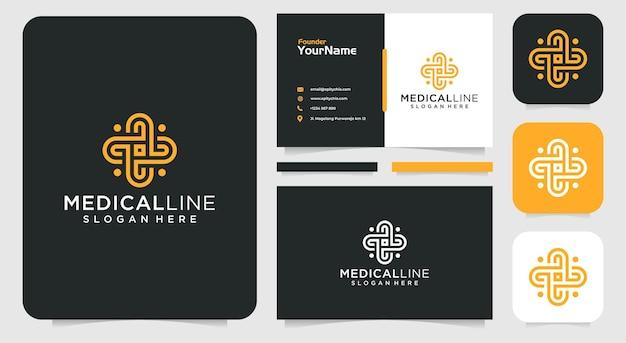 Monogram medical logo and business card inspiration