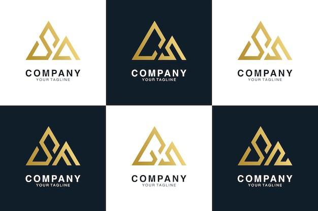 Вензель гора с буквенным логотипом коллекции