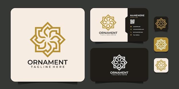 Monogram ornament pattern ornate formal logo vector design