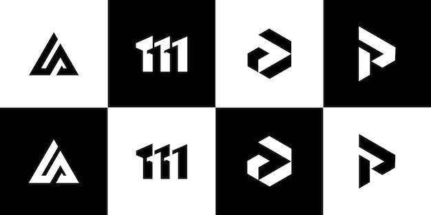 모노그램 로고 디자인 템플릿을 설정합니다.