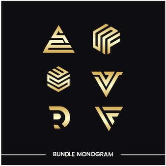 Monogram set of logo design templates